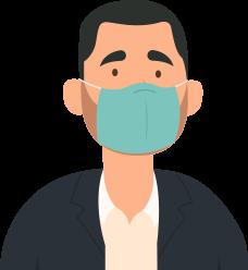 Ilustração Homem com Máscara